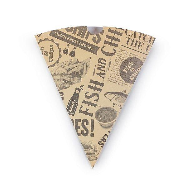 Kabatiņa-konuss ar avīzes druku, izgatavota no pārstrādāta papīra ar pārklājumu no kukurūzas cietes, iesaiņots 1000 gabali