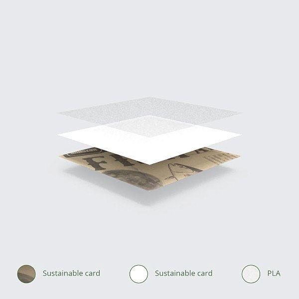 Кармашек-конус с газетным принтом из переработанной бумаги с покрытием из кукрузного крахмала, в пачке 1000 шт