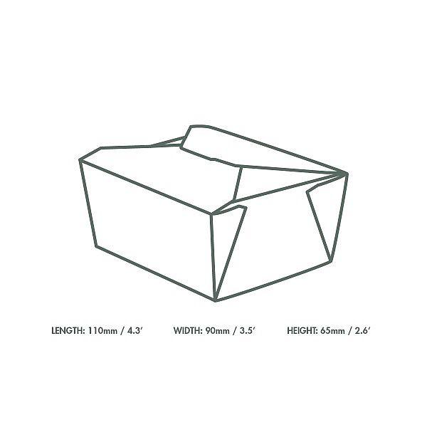 Коробка из крафт-картона No.1, 700 мл, 110 x 90 x 65 мм, в пачке 450 шт