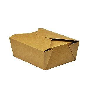Коробка из крафт-картона No.8, 1300 мл, 150 x 120 x 65 мм, в пачке 300 шт