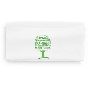 1-ply dispenser napkin – Green Tree, 33 cm, 250 pcs per pack