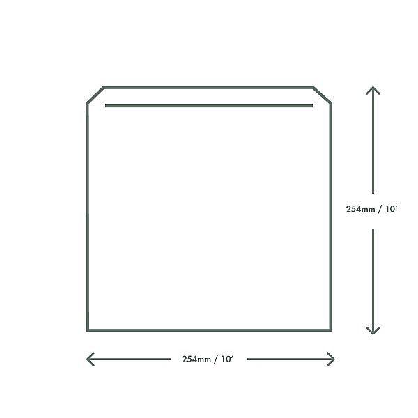 Recycled kraft bag (254 x 254 mm), 1000 pcs per pack
