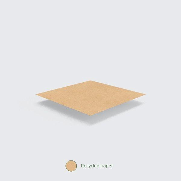 Плоский пакет из переработанной крафт-бумаги, 180 x 180 мм, в пачке 1000 шт