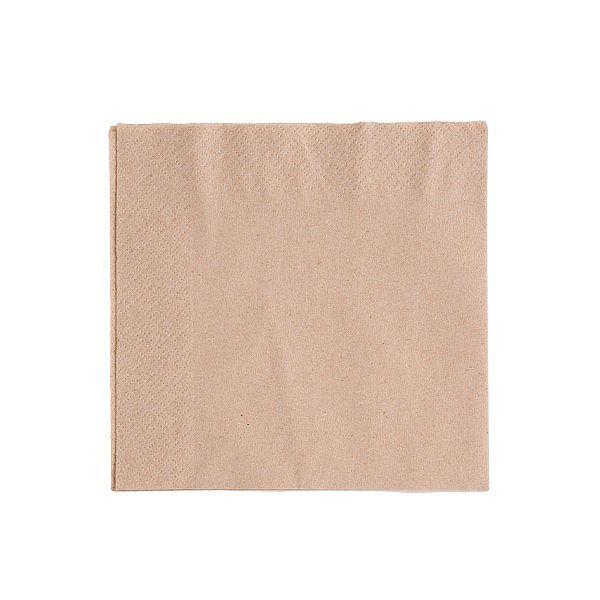 2-ply unbleached napkin, 33 cm, 100 pcs per pack