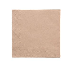 2-ply unbleached napkin, 40 cm, 100 pcs per pack
