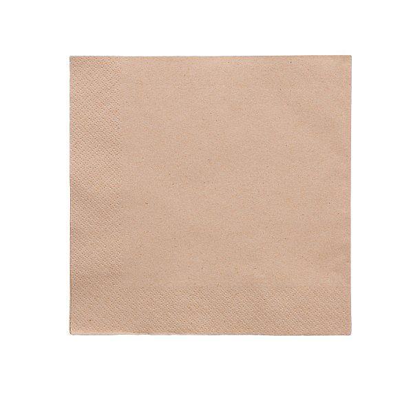 Divslāņu nebalināta salvete no pārstrādāta papīra 400 mm, iesaiņots 100 gabali