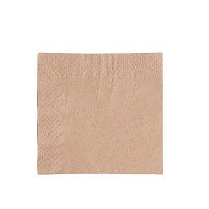 2-ply unbleached napkin, 24 cm, 250 pcs per pack