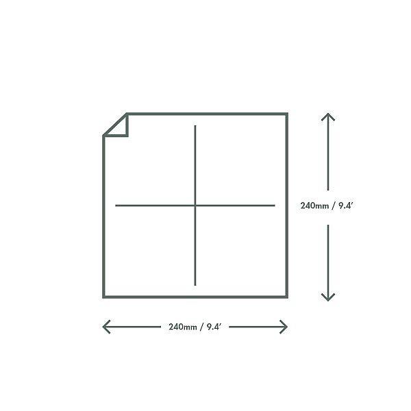 Двуслойная неотбеленная салфетка из переработанной бумаги, 240 мм, в пачке 250 шт