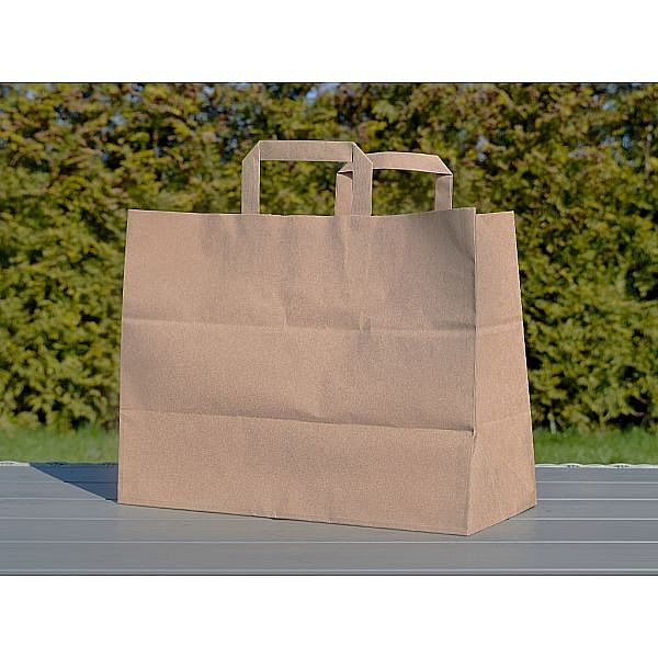 paper bag with handles, no inscription (350 х 170 х 245), 250 pcs per pack