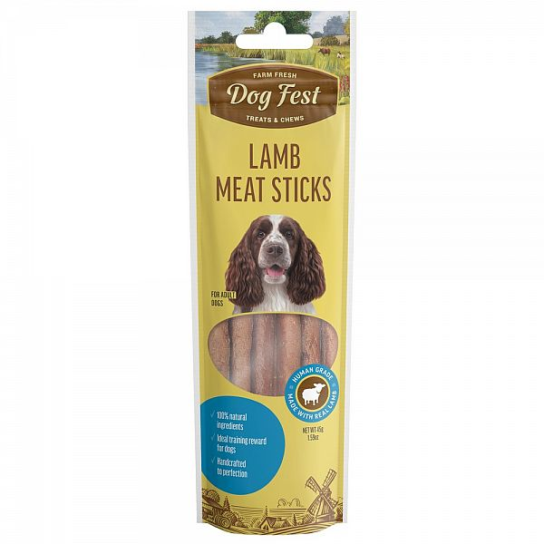MEAT STICKS LAMB,45g. For adult dogs.