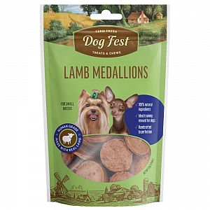 LAMB MEDALLIONS,55g. For small breeds