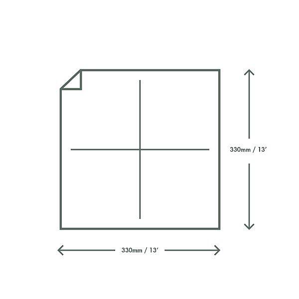 Двухслойная салфетка отбеленная без хлора из переработанной бумаги, 330 мм, в пачке 100 шт