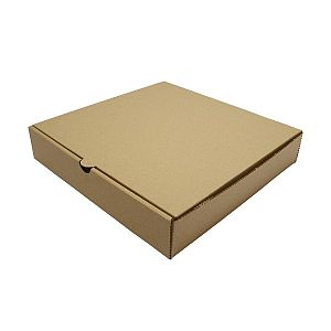 Brown kraft pizza box, 228 mm, 100 pcs per pack