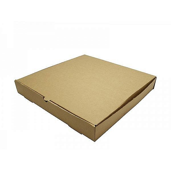 Brown kraft pizza box, 304 mm, 100 pcs per pack