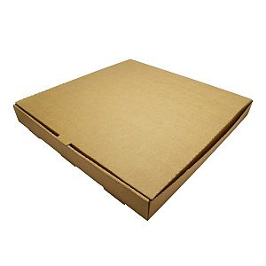 Brown kraft pizza box, 406 mm, 50 pcs per pack