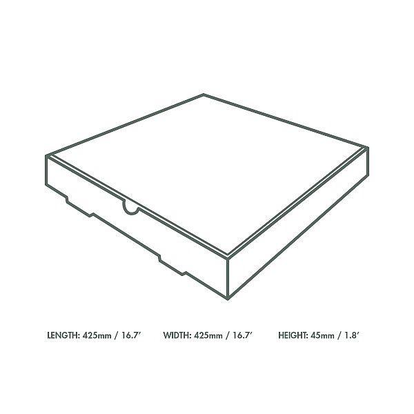 Kārba picai no kraft kartona 400 x 400 mm, iesaiņots 50 gabali