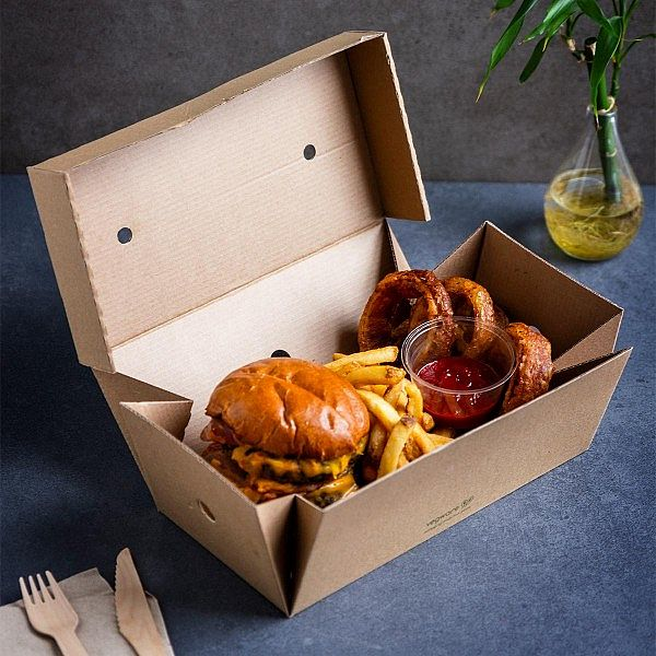 Premium burger meal box, 24.5 x 12cm, pakis 100 tk