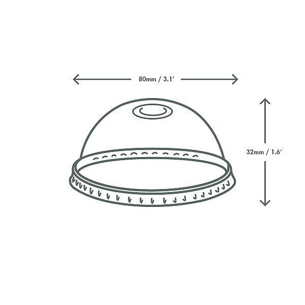 Kuppel kaas topsile kõrre avaga, PLA, 76-seeria, pakis 50 tk
