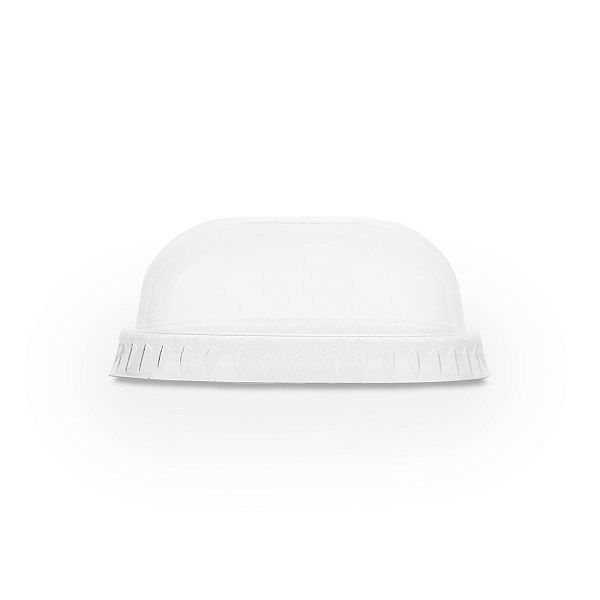 PLA dome lid without hole, 76-series, 50 pcs per pack
