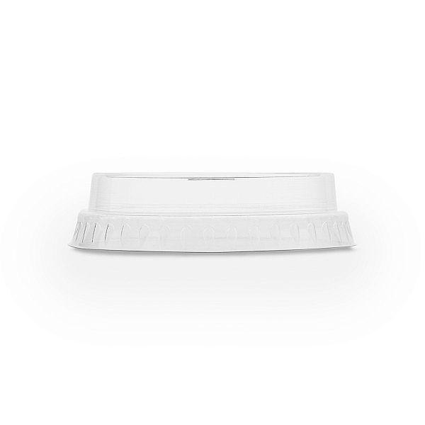 Плоская крышка из кукурузного крахмала, с отверстием для использования соломинки, серия 76, в пачке 50 шт