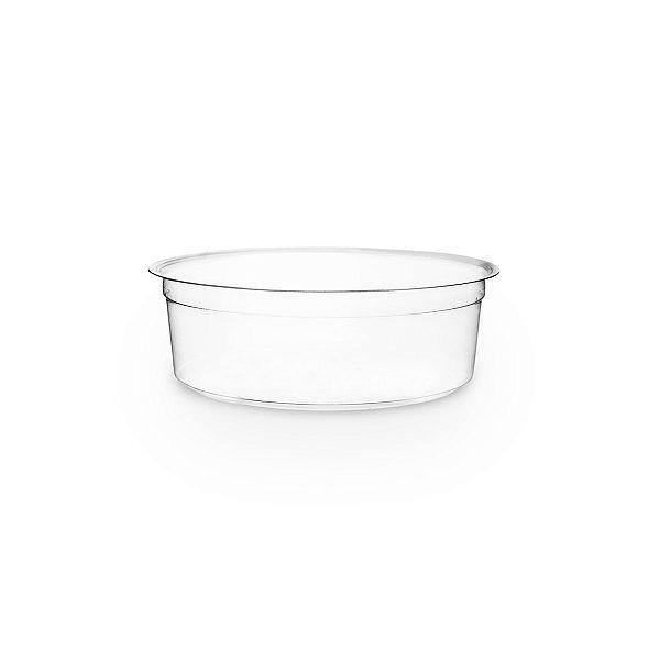 PLA round deli container, 240 ml, 50 pcs per pack
