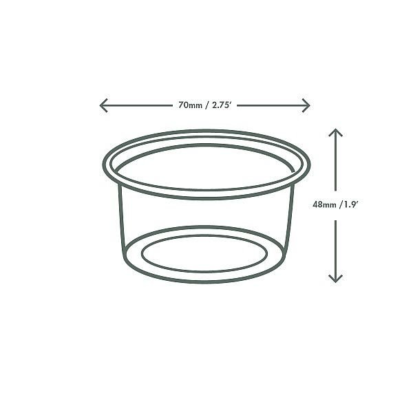 PLA cold portion pot, 120 ml, 100 pcs per pack