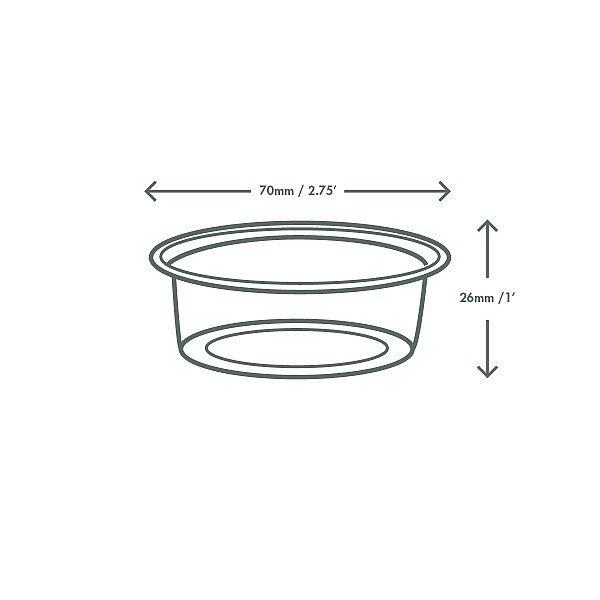 PLA cold portion pot, 60 ml, 100 pcs per pack