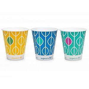 """Papīra glāze """"Hula"""" aukstajiem dzērieniem ar pārklājumu no kukurūzas cietes, 360 ml, 76. sērija, iesaiņots 50 gabali"""