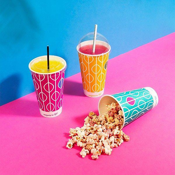 """Стакан """"Hula"""" для холодных напитков из бумаги с покрытием из кукурузного крахмала, 660 мл, серия 96, в пачке 50 шт"""