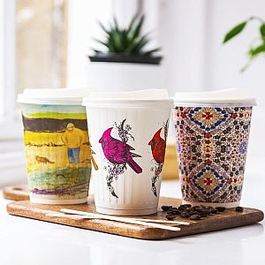 "Hot drink cup, 360 ml, ""Gallery"" 89-series, 25 pcs per pack"
