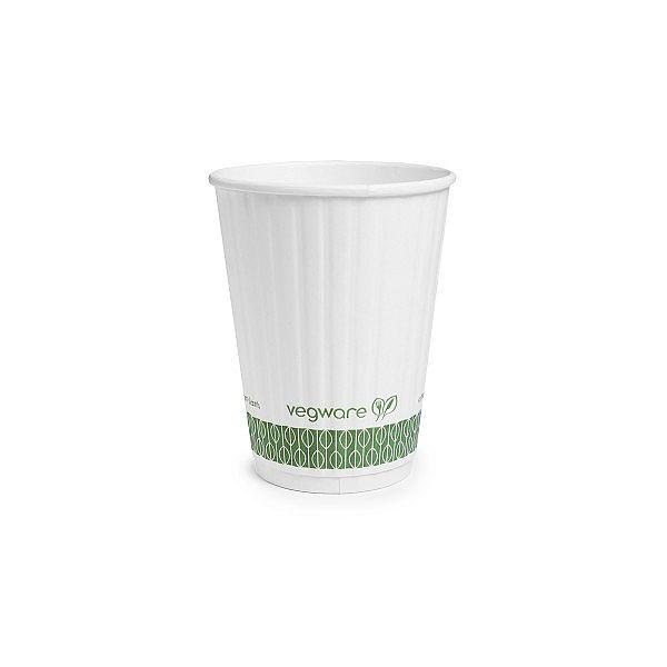 Karstā dzēriena krūze ar pārklājumu no kukurūzas cietes, balta, 340 ml, 89. sērija, iesaiņots 25 gabali