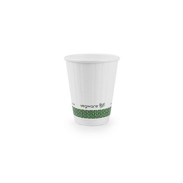 Karstā dzēriena krūze ar pārklājumu no kukurūzas cietes, balta, 240 ml, 79. sērija, iesaiņots 25 gabali