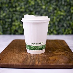 White embossed hot drink cup, 240 ml, 79-series, 25 pcs per pack