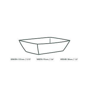 Поднос — тарелка из крафт-картона, 130 х 90 х 40 мм, в пачке 1000 шт