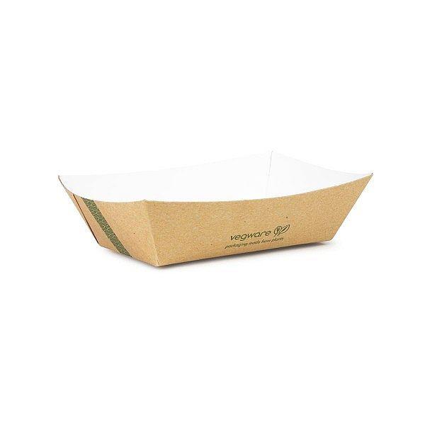 Paplāte — šķīvis no kraft papīra, 150 х 100 х 40 mm, iesaiņots 1000 gabali