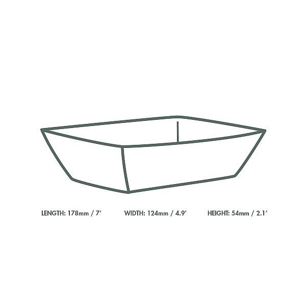Food tray, kraft paber (178 x 124 x 54 mm), 500 pcs per pack