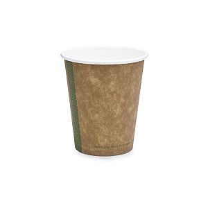 Brown kraft hot drink cup, 180 ml, 72-series, 50 pcs per pack
