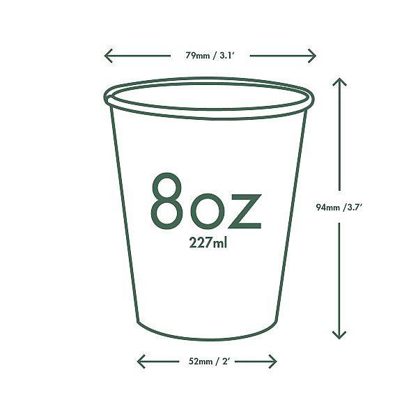 Brown kraft hot drink cup, 240 ml, 79-series, 50 pcs per pack