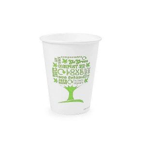 12oz white hot cup, 62-Series – Green Tree, 50 pcs per pack
