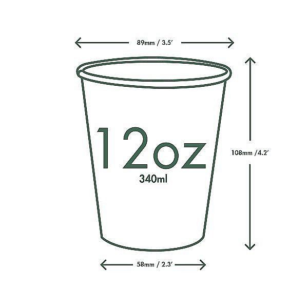 """Белые стаканчики для горячих напитков """"Green Tree"""", 360 мл, в пачке 50 шт"""