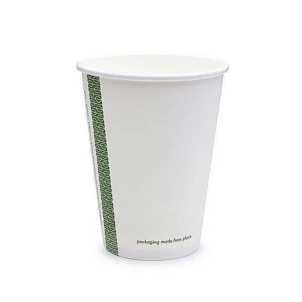 Стакан для горячих напитков из белой бумаги с покрытием из кукурузного крахмала, 360 мл, серия 89, в пачке 50 шт