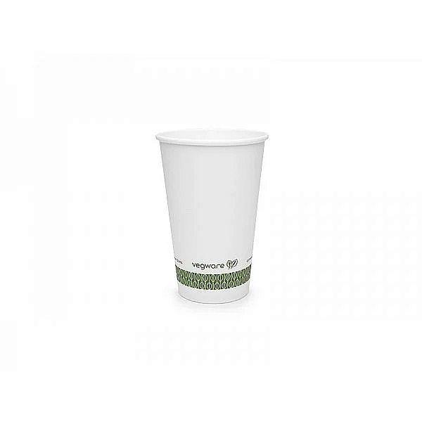 Стакан для горячих напитков из белой бумаги с покрытием из кукурузного крахмала, 360 мл, белый, серия 79, в пачке 50 шт