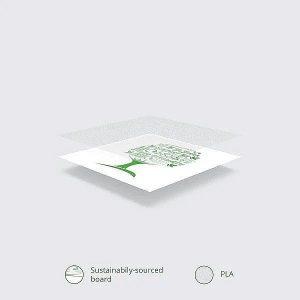 """Valged kuuma joogi topsid """"Green tree"""" logoga, 480ml, 50 tk, pakis 50 tk"""