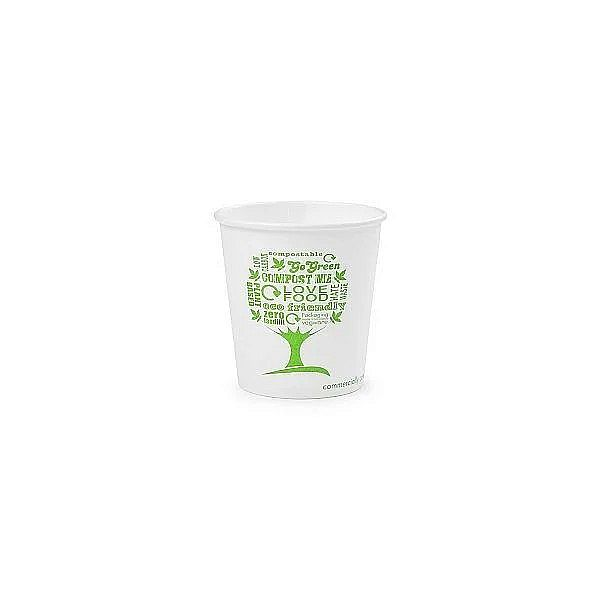 4oz white hot cup, 62-Series – Green Tree, 50 pcs per pack