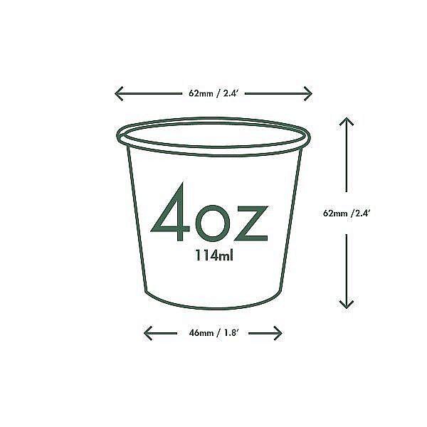 "Baltās karsto dzērienu tases ""Green Tree"", 120 ml, iesaiņots 50 gabali"