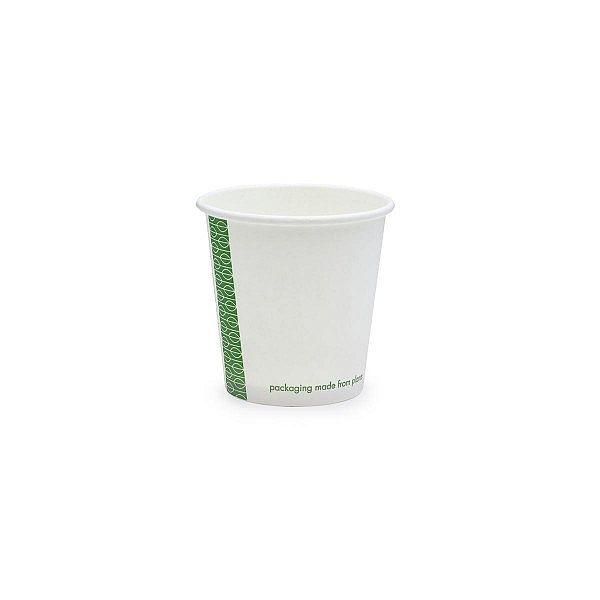Karstā dzēriena krūze no baltā papīra, ar pārklājumu no kukurūzas cietes, 120 ml, balta, 62. sērija, iesaiņots 50 gabali