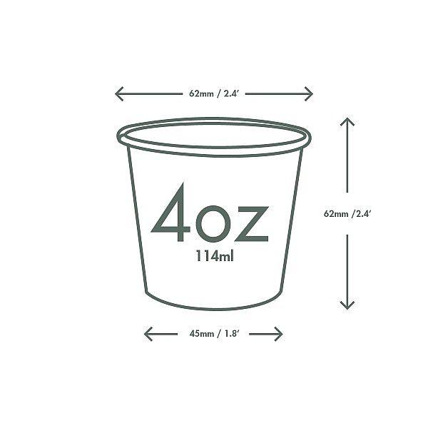 Kuuma joogitops, 120 ml, valge, 62-seeria, pakis 50 tk