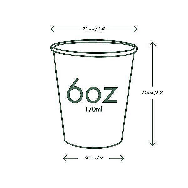 """Valged kuuma joogi topsid """"Green tree"""" logoga, 180ml, 50 tk, pakis 50 tk"""
