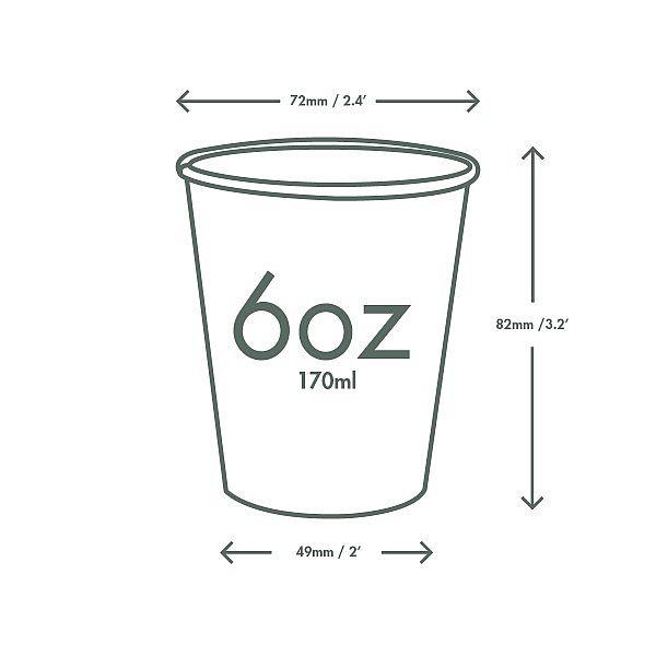 Kuuma joogitops, 180 ml, valge, 72-seeria, pakis 50 tk