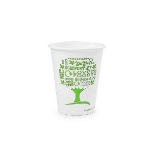8oz white hot cup, 62-Series – Green Tree, 50 pcs per pack